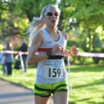 Lisa in action at Walton Park 5 mile