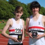 Mark Roberts & Jake Dickinson - U15 800m Gold & bronze medal winners