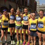 Kirsty Longley with the North of England women team at Manchester 10k