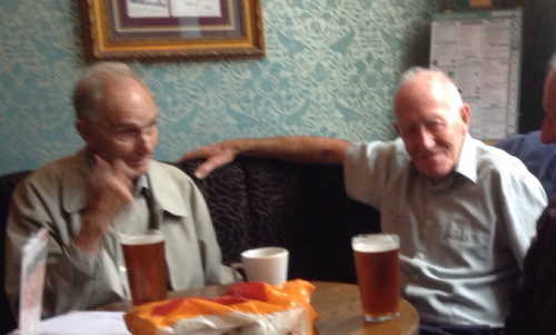 Frank Wilson (Pembroke) and Charlie Doyle (Sefton) enjoy some old memories over a pint. We unfortunately lost both Frank and Charlie in 2018