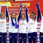 GB Under 20 women European team gold medal winners 2018. Tiffany Penfold far right