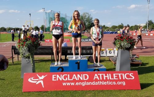 Rosie Johnson silver medal at England Champs