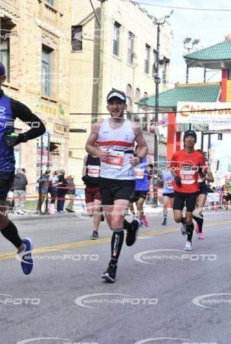 Paul Milburn at Chicago Marathon 2019