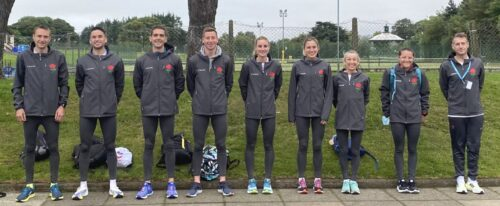 England Team at Antrim Kirsty 3rd from right